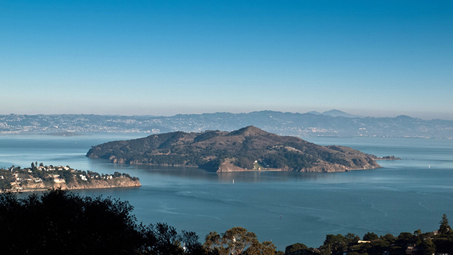 A view of Angel Island in the San Francisco Bay area