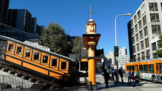 Angels Flight Funicular in Downtown Los Angeles