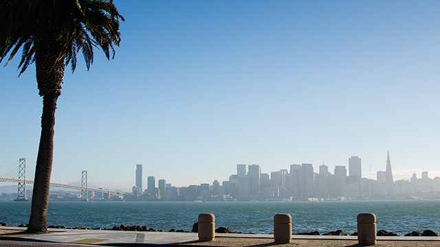 A view of San Francisco from Treasure Island